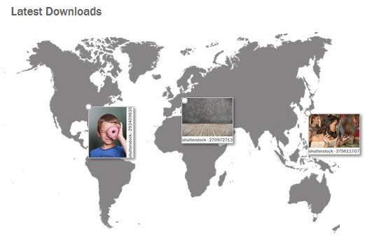 Download-Übersicht bei Shutterstock
