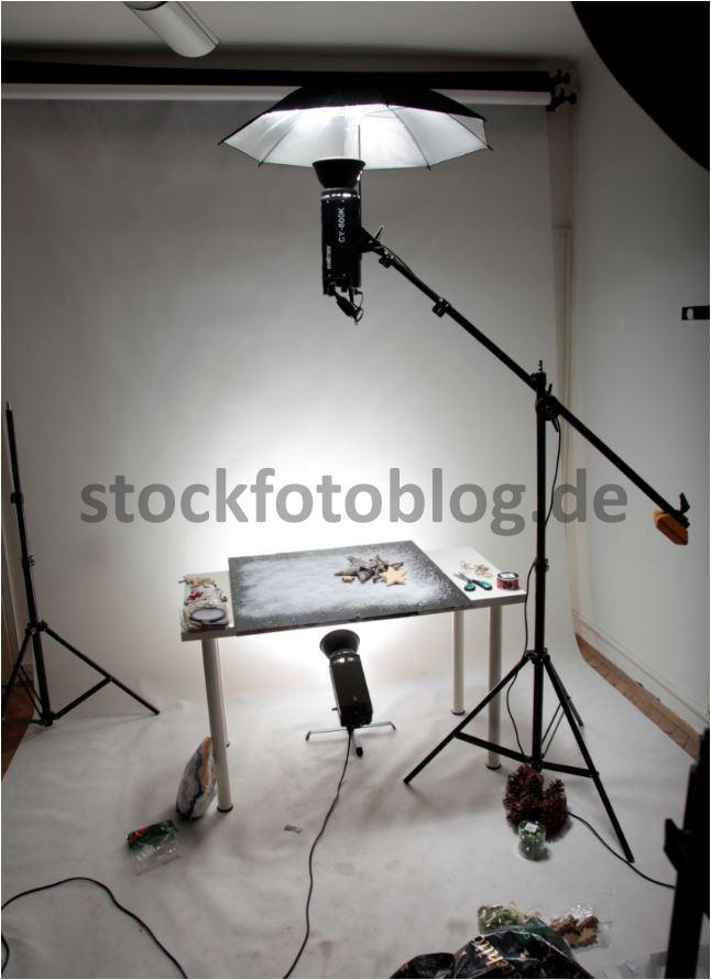 Flatlay Stockfotografie mit einfachsten Mitteln im Studio