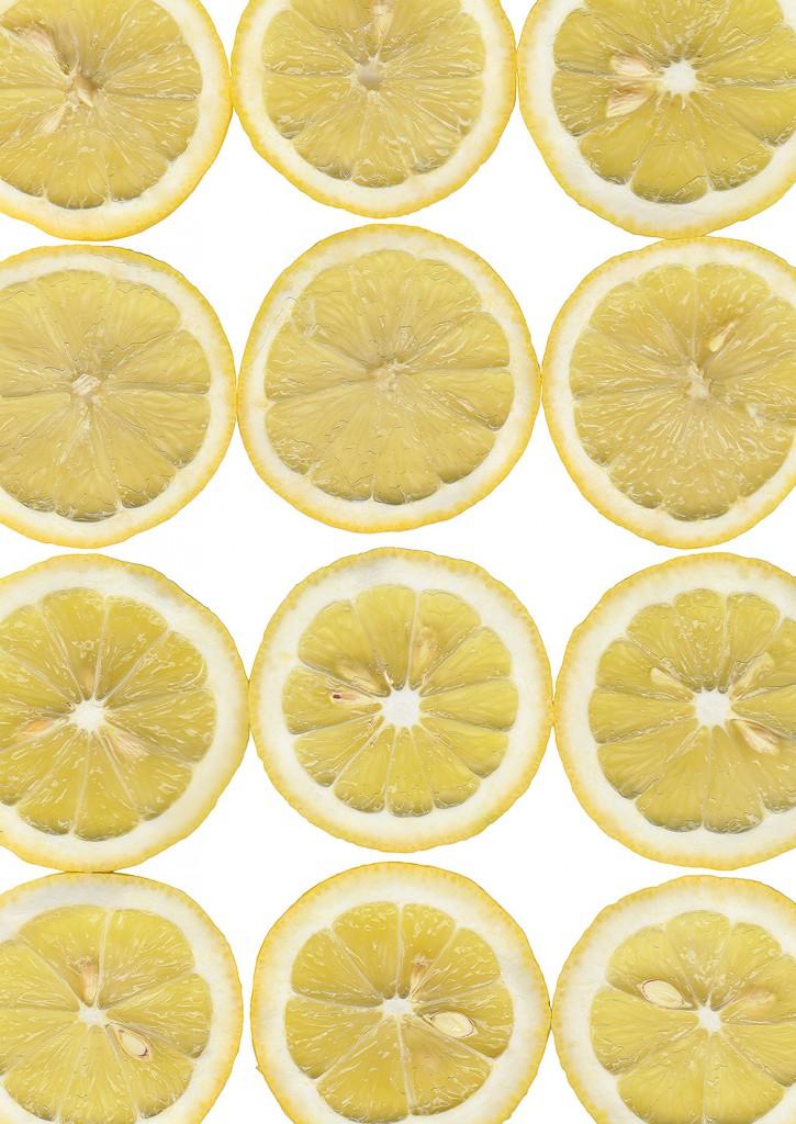 Retuschierter Scan von Zitronenscheiben