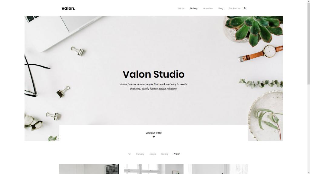 Wordpress Theme für Fotografen VALON