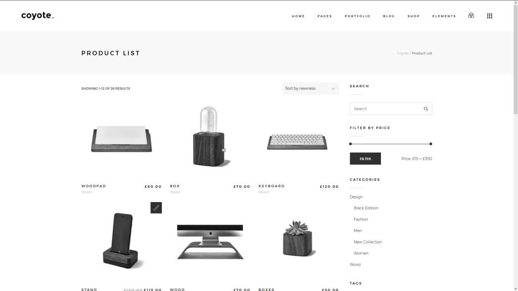 Coyote Screenshot des Shops für Fotografen, die ihre Bilder gern verkaufen wollen