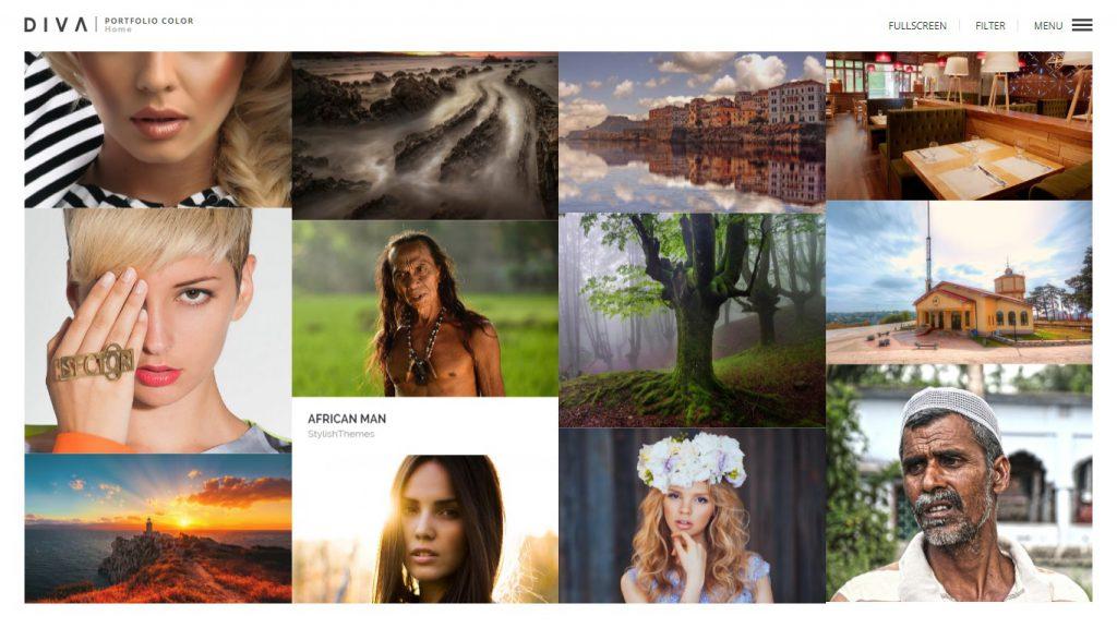 Wordpress Theme DIVA Portfolio für Fotografen
